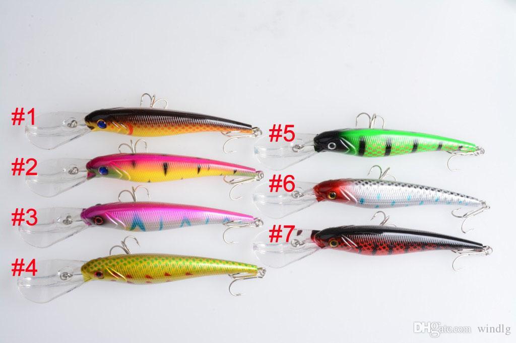 Pesca Crankbait señuelo 1 unids Bait Hook minow 16.5 CM 27.9G Crankbait señuelos de plástico duro cebo 2 # ganchos big minnow cebo barco