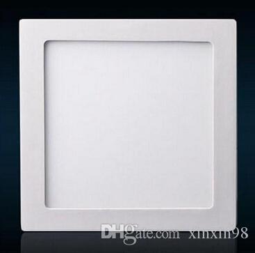 熱い販売ラウンド/正方形6W 12W 18W調光対応LEDパネルライトの表面実装LEDダウンライト暖かい/ナチュラル/クールな白いAC 100-240V +ドライバ