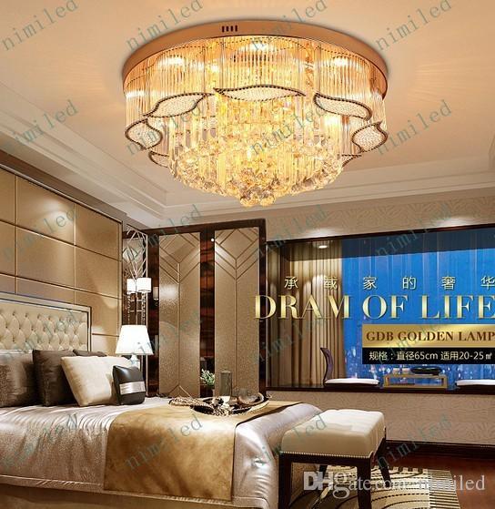 Großhandel Nimi572 Moderne Luxus Kristall Licht LED Decke Runde Wohnzimmer  Pendelleuchten Restaurant Lichter Lampen Schlafzimmer Beleuchtung Von ...