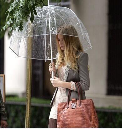 "100pcs 34 ""큰 명확한 귀여운 거품 깊은 돔 우산 험담 소녀 바람 저항"