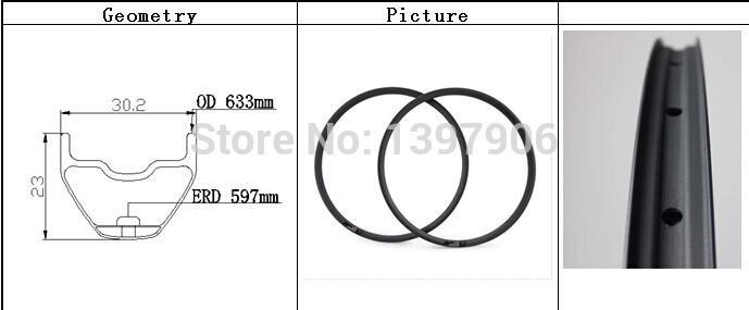 Новый завод цена супер легкий и сильный карбоновый 29-дюймовый МТБ обода hookless 30.2X23MM для маутейн велосипед