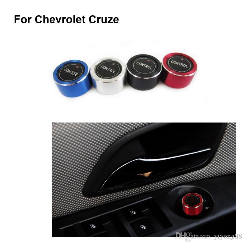 Бесплатная доставка Новый алюминиевый вид сзади ручка регулировки зеркал крышка наклейки чехол для CHEVROLET Cruze Chevy 2009 ~ 2014