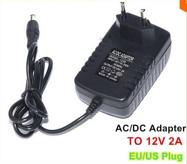 100PCS / LOT 12V 2A UE Stati Uniti Regno Unito dell'AU Adattatore di alimentazione adattatore di alimentazione CA della spina di corrente continua per le tavolette luce di striscia