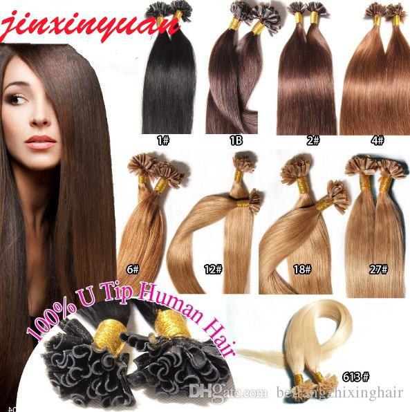 1G / S 200G / Лот 14 '' - 24''100% Человеческие волосы Утилизация волос Усиления волос Реми Индийский бразильский заводской цена Прямой Ногтей U Совет волос DHL бесплатно