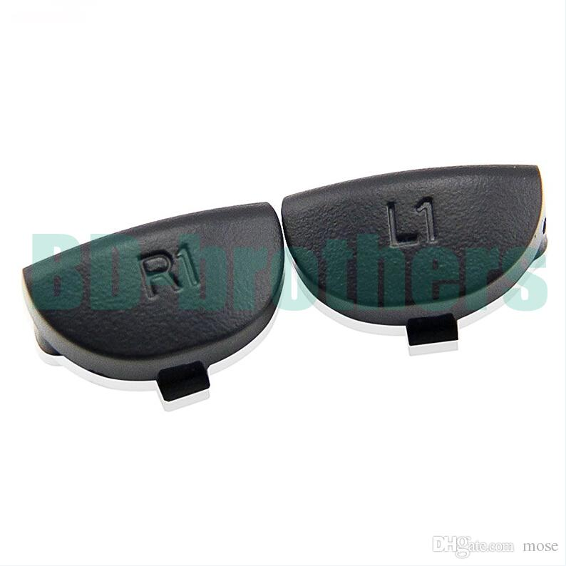블랙 L1 R1 버튼 키 트리거 교체 부품 플레이 스테이션 4 PS4 컨트롤러 용 500sets (1000pcs) / lot