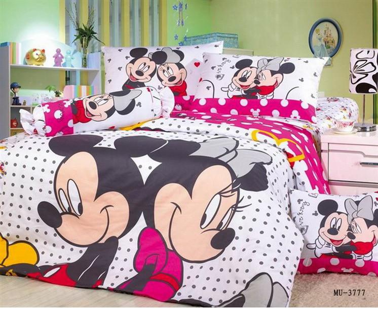 2020 Brand Mickey And Minnie Mouse Bedding Sets Queen Size Children Cartoon Comforter Duvet Cover Bed Sheet Bedclothes Cotton From Glories 162 81 Dhgate Com