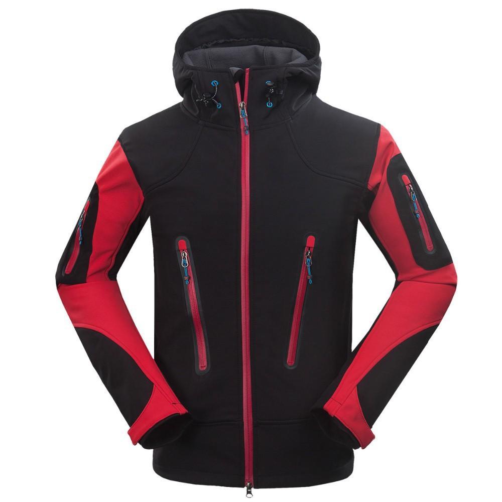 Wholesale-2015 Windstopper Outdoor-Softshell-wasserdichte Jacke Mens Wandern Klettern Mountain Ski Thermal Fleece Sport Jacken