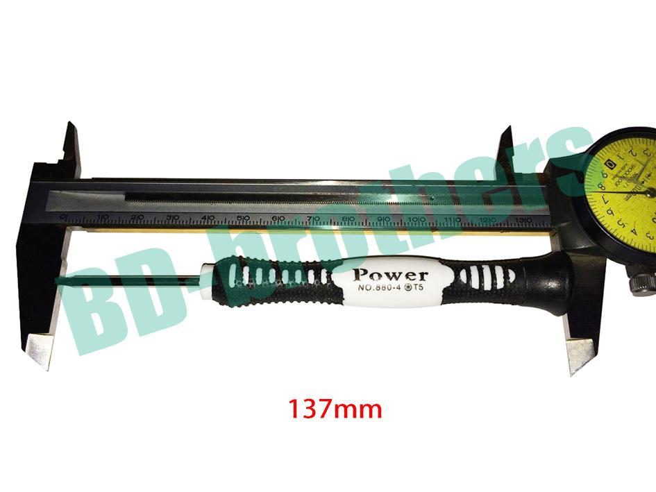 137mm 스크류 드라이버 0.8 Pentalobe 1.2 펜타클 1.2 / 1.5 필립스 2.0 슬롯 T4 T5 T6 스크루 드라이버 1500pcs / lot