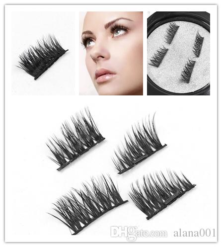 Yanlış Eyelashes Manyetik Göz Lashes makyajTouch Yumuşak Hiçbir gule mıknatıs kirpik Ile Aşınma Günlük makyaj için Mükemmel 4 adet / takım