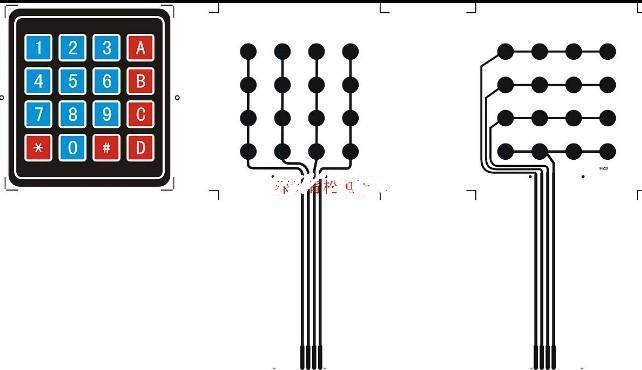 O envio gratuito de 25 pçs / lote Microcomputador único chip estendido teclado, teclado de Membrana 4 * 4 teclado de matriz Interruptor de Membrana