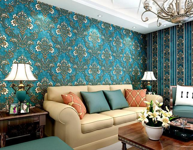 10m 3d Wallpaper Bedroom Living Wall Retro Background Stripe Mural Roll Pvc Modern Wallcovering For Family Home Backgrounds