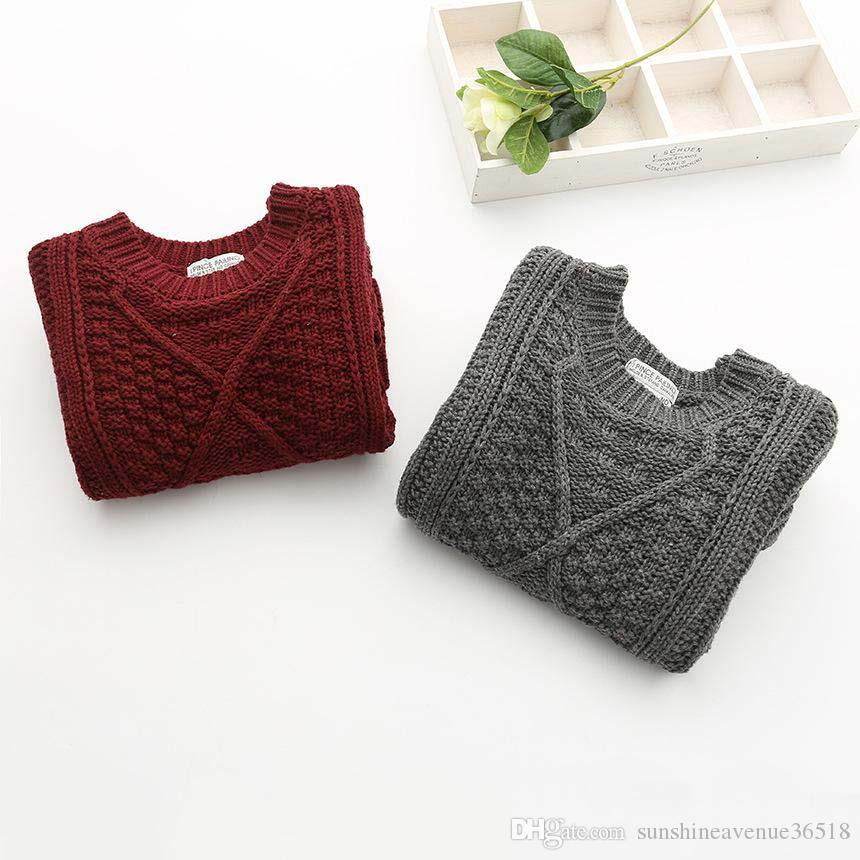 4e211ac62 2019 2016 Kids Girls Knit Sweater Dresses Baby Girl Maxi Crochet ...