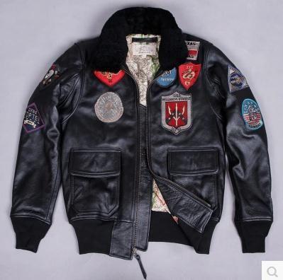 AVIREX US Air Force pilote veste en cuir véritable multi-standard costume de vol G1 manteaux outwear moteur