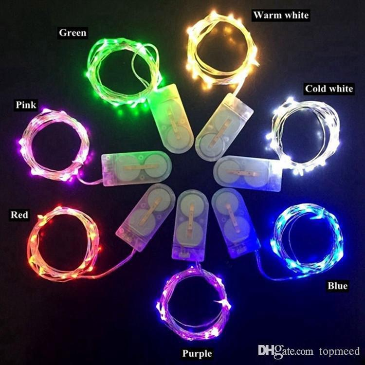 크리스마스 조명 LED 문자열 빛 1M 2M 3M 작은 배터리 운영 LED 빛 실버 와이어 구리 문자열 빛 크리스마스 할로윈 파티 장식