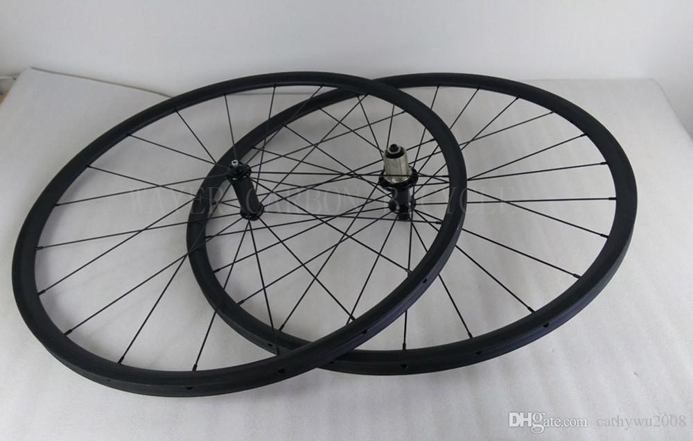 أنبوبي 24 ملليمتر الكربون الطريق دراجة العجلات 23 ملليمتر واسعة 20/24 h العجلات الأمامية والخلفية دراجة البازلت الفرامل المسار عمود ايرو المتحدث محور powerway