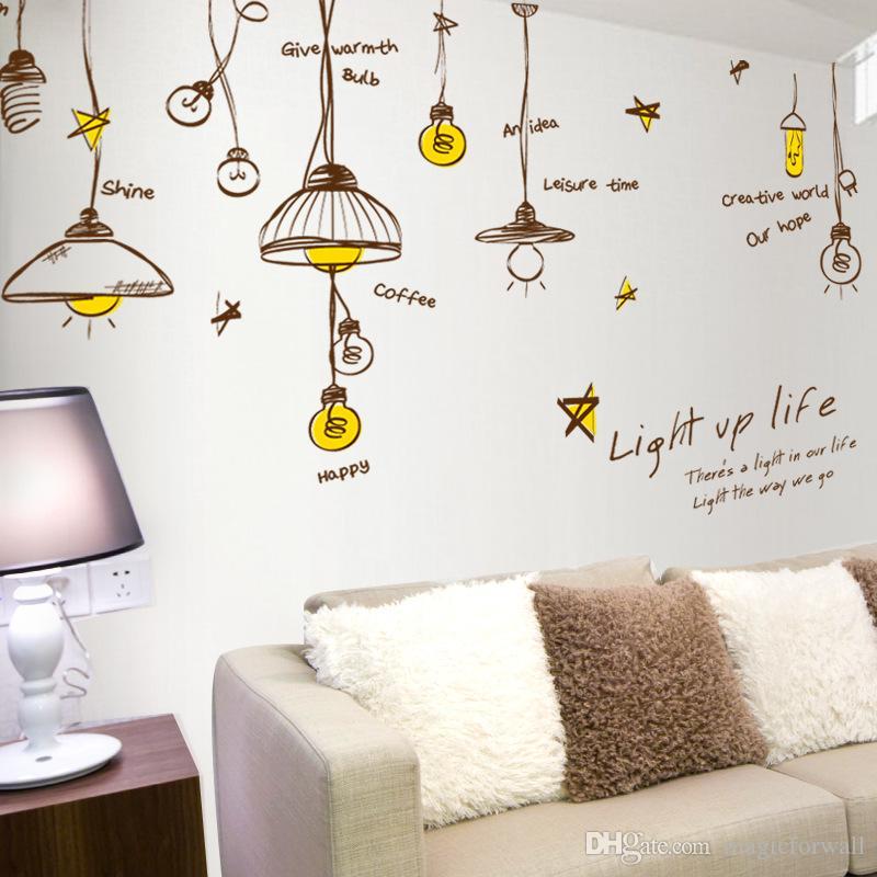Good Personalized Droplight Wall Art Decal Decor Sticker Ceiling Light Art Decal  Sticker Light UP Light Wall