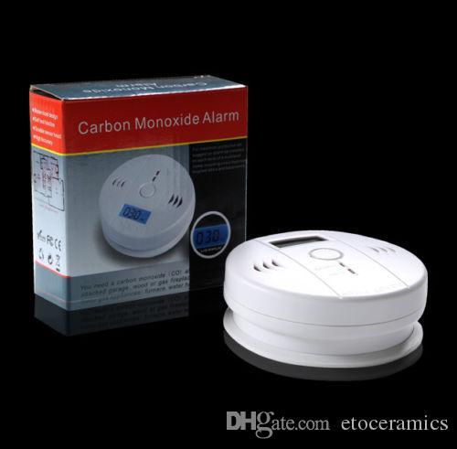 CO Carbon Monoxid Gas sensorförgiftningsskärm LCD Hem Säkerhetsarmsdetektor