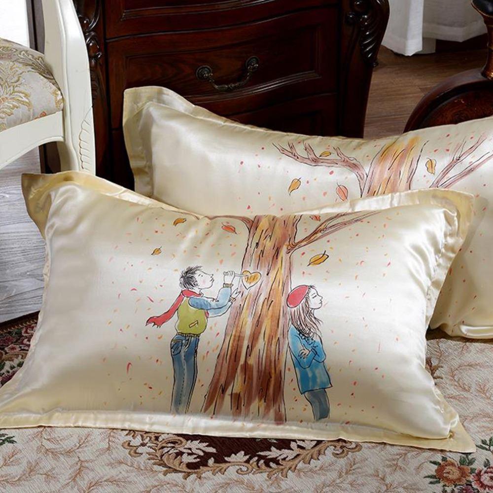وسادة القضية الطبيعية 100 ٪ غطاء وسادة الحرير الكثافة 16 Momme Pillowcovers KGMX المخدة