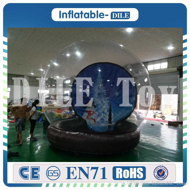 PVC Transparent 6m*4m Viewing Inflatable Outdoor Camping Tent Clear Single Tunnel Bubble House Camping Tent For Trade Show Top Quality