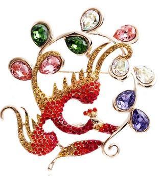 больше цвета алмазный полый цветок мужчины;s брошь леди (5.6*5.6 см) (myyhmz )