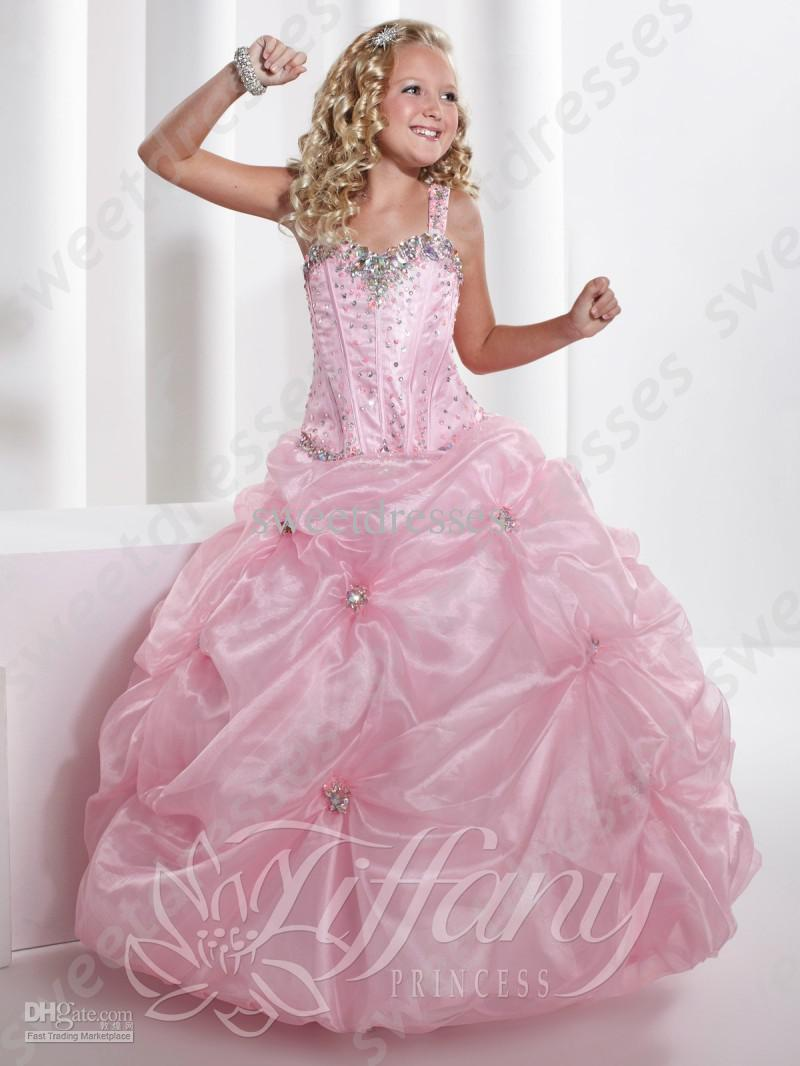2015 Little Girls Pageant Dresses Light Pink Simple Stunning ...