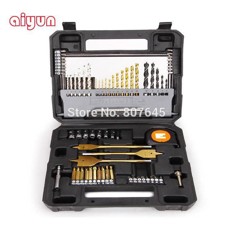 68pcs/set drill bits set masonry impact drill wood flat drill twist drill bit for metal woodworking