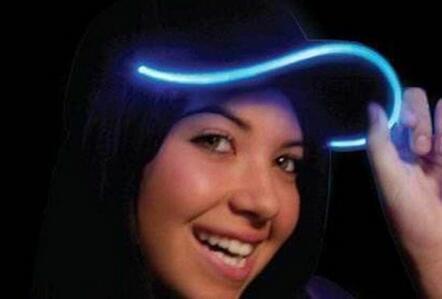 Tessuto del cappello di incandescenza del cappello leggero del LED per i berretti da baseball adulti 7 luminosi colori per la dimensione di adeguamento di selezione Partito di natale