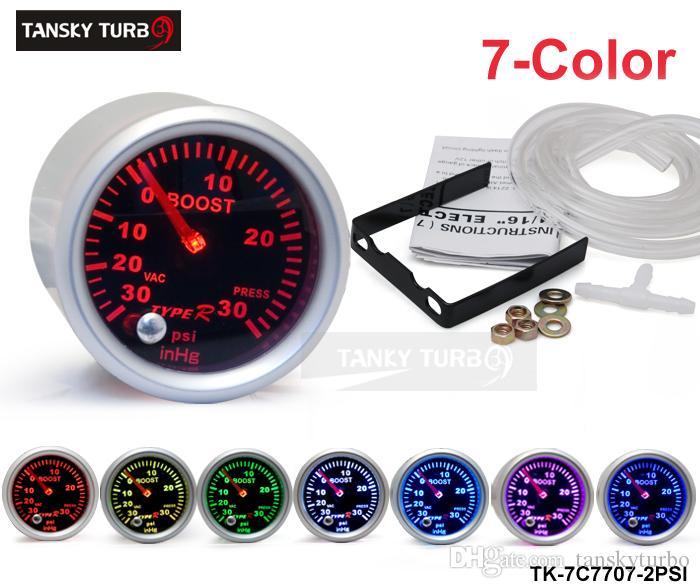 """Tansky  - ユニバーサル車 'メーター/ゲージタイプ-R 2 """"/ 52 mm 7カラー設定ブーストゲージPSI TK-7C7707-2PSI"""