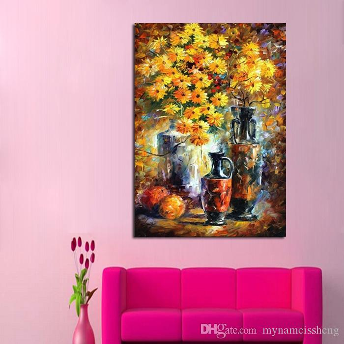 Hand Painted chrysanthemum Knife Oil Painting On Canvas Leonid ...