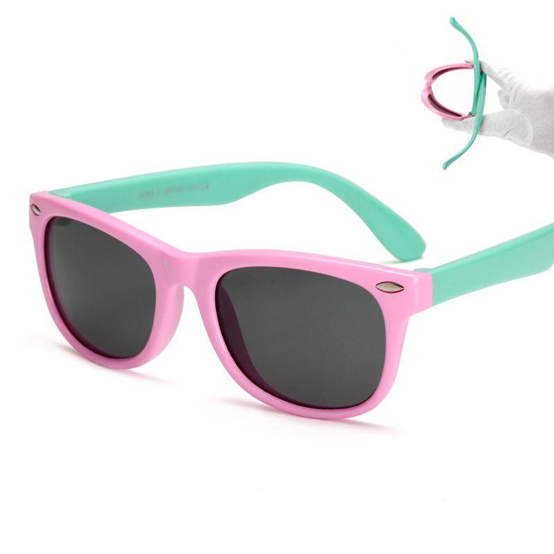 مرنة الاطفال النظارات الشمسية المستقطبة الطفل الطفل سلامة طلاء نظارات الشمس uv400 نظارات ظلال الرضع oculos دي سول