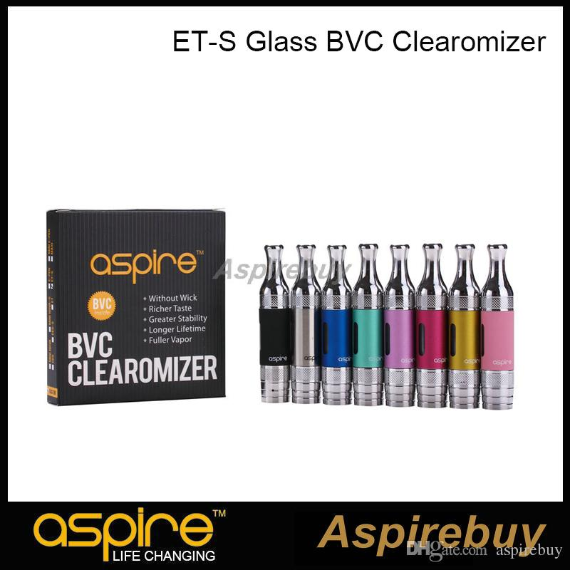 Aspire ET-S BVC Tank 3ml ETS BVC Atomizer Glass Clearomizer with Aspire BVC Coil Head Pyrex Glass Tube 5pcs/Pack 100% Original