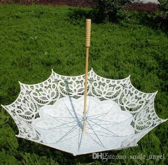 Lace Bridal Parasols Wedding Umbrella New Arrival Photography props 82cm Diameter 68CM length Beautiful Bridal Accessories