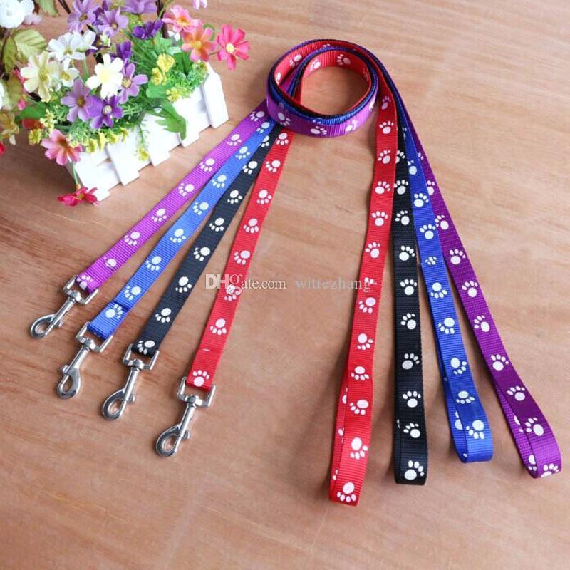 Laisse de laisse de chien en nylon de haute qualité pour chien de 120 cm de long pour la marche quotidienne 1,0 cm, 1,5 cm, 2,0 cm de largeur 4 couleurs