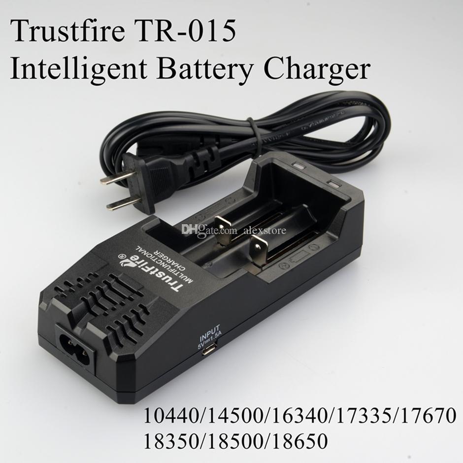 20 stks Originele Trust Fire TR-015 Digitale Dual Charger Trustfire Batterij Lading AU US EU UK Plug voor 18350 18650 PK TR-J18 TR-001 DHL