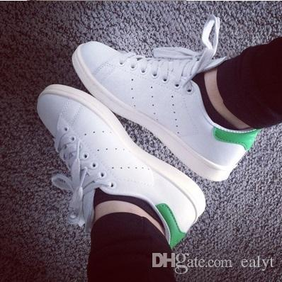 huge selection of 0c2d2 f57ae 50 Years Classic Style Stan Smith Shoes For Men Women Athletic Shoes 36 44  White Color Musial Originals Stan Smith Skateboarding Shoes Canada 2019 ...