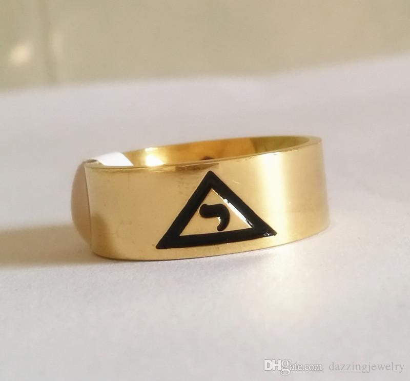 High Quality Gold Silver Stainless Steel 14 degree Scottish Rite Yod ring Masonic Signet Rings inside with VIRTUS JUNXIT MORS NON SEPARABIT