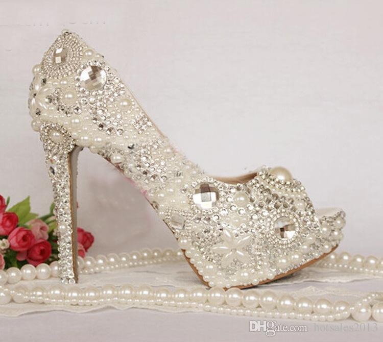 LADIES GOLD DIAMANTE WEDDING BRIDE BRIDESMAID PROM PEEP-TOE PARTY SHOES UK 3-7