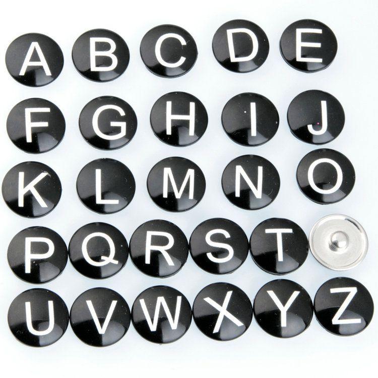 NOOSA Amsterdam Vintage 26 Englisch Buchstaben 18mm noosa Austauschbare Druckknöpfe DIY armbänder Schmuck Ginger DIY taste zubehör