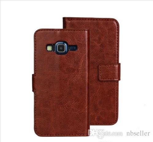 Per Samsung Galaxy Express cavallo 2 G3815 Pazzo Pazzo Retro casi raccoglitore del sacchetto del cuoio della carta di credito stand copertura della pelle titolare