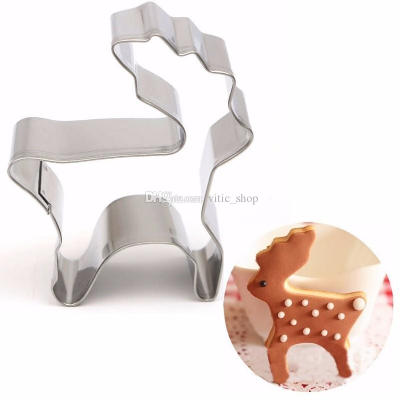 2020 Silver Cookie Cutter Animal Deer Shape Cookie Cutter Stainless Steel Christmas Cookie Stamp Sandwich Biscuit Cutters Cake Decorating Bgm03 From Vitic Shop 0 63 Dhgate Com