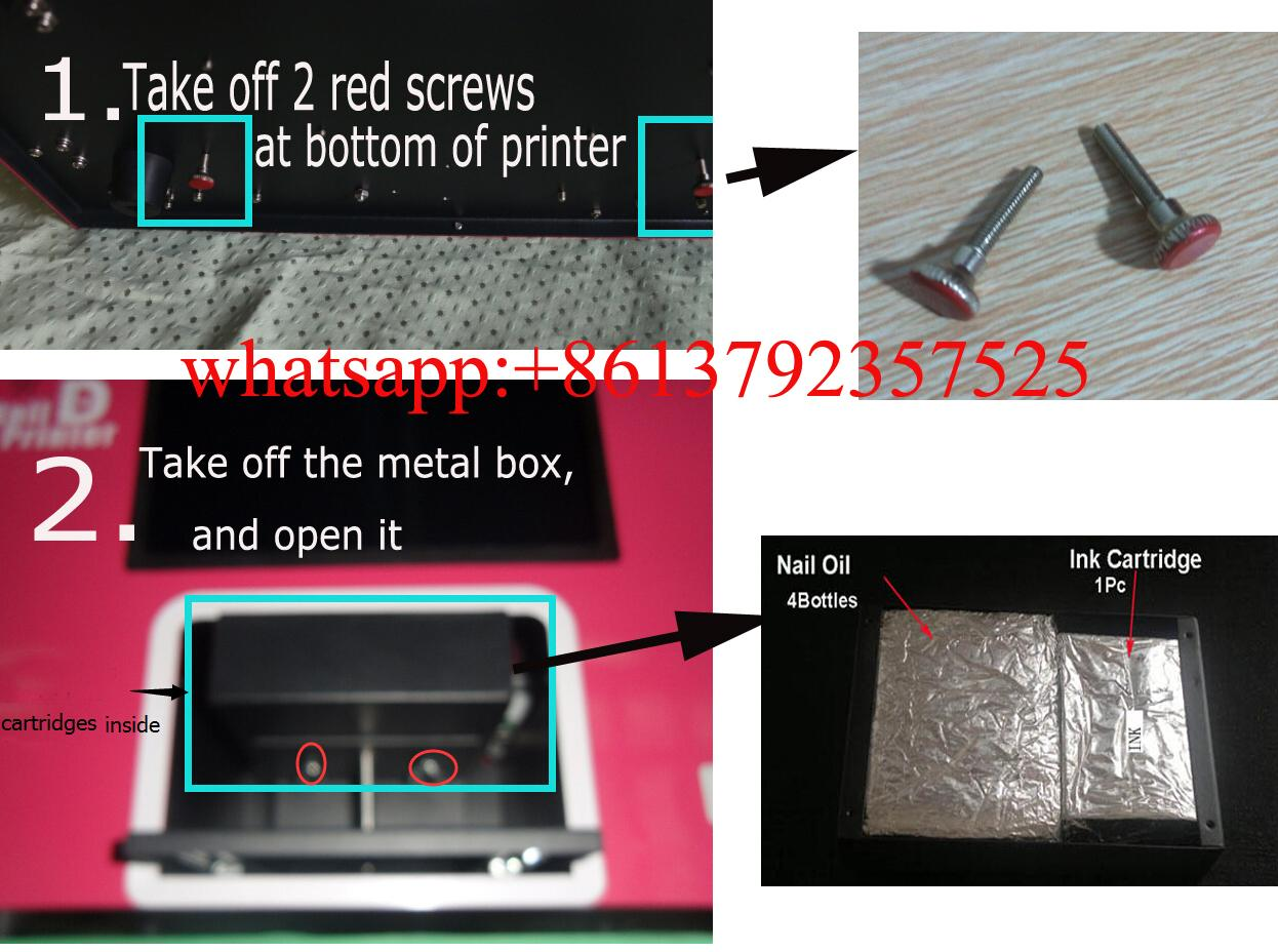 Free shipping digital nail art machine printing on nails and flowers ...