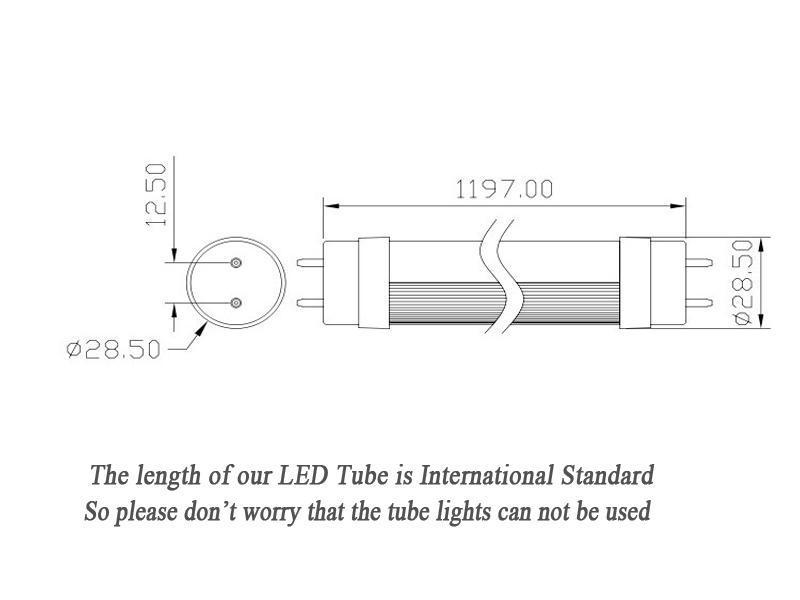 Hot Selling T8 18w Led Tube Light Lamp 1200mm 4 Feet Warm