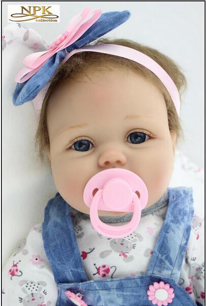 NPK 새로운 도착 시뮬레이션 여자 아주 인형 장난감을 자녀의 날 선물 외국의 무역 수출 55cm1.8kg 머리 모헤어
