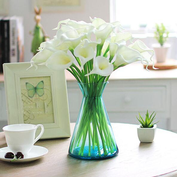 Calla Lily Bridal Wedding Bouquet Bride flowers FREE SHIPPING PU Real Touch flower artificial flowers home party decorations HP007