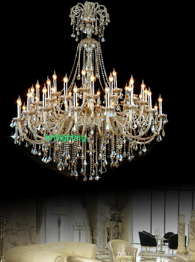 42a3fff09a extra large crystal chandelier lighting Entryway high ceiling chandelier  for hotel chandelier crystal drops