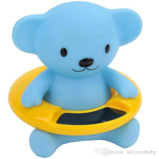 New Plastic Floating Cute Baby Peru Tub Water Thermometer Bear ...