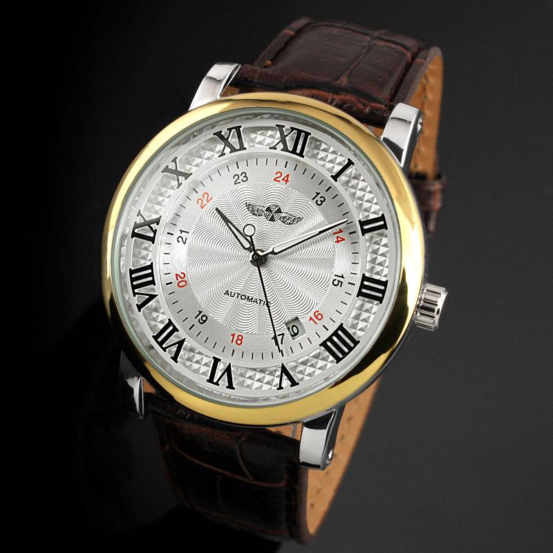 2021 Best Mens Automatic Watch leather Mechanical Watches Men Military Mechanical Watch