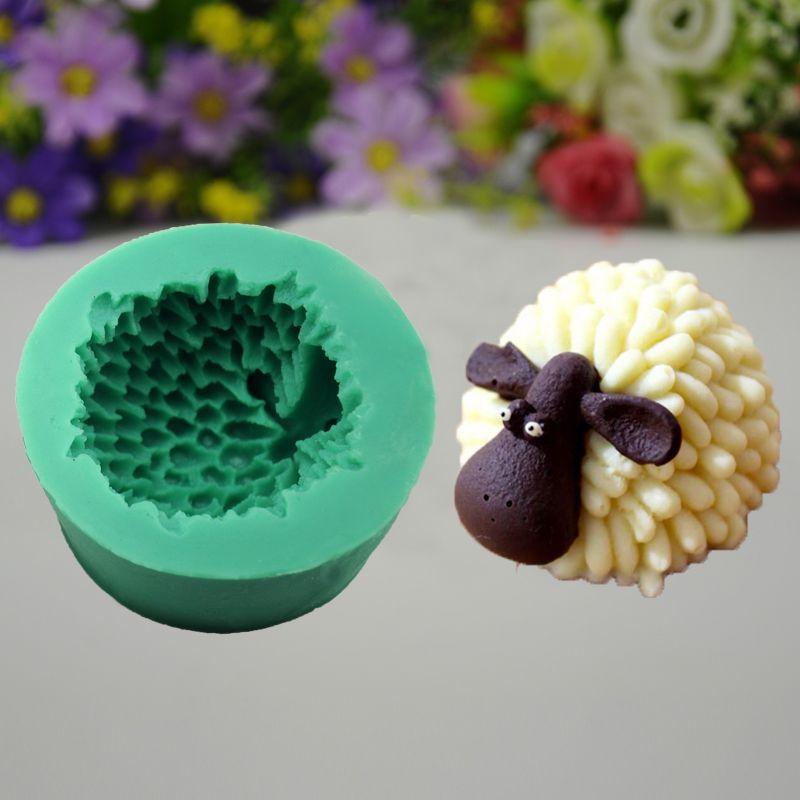Cartoon sheep Silicone Fondant Sugar Craft Soap Mold Bakeware Chocolate Candy Mould animal Cupcake Decorating Tool