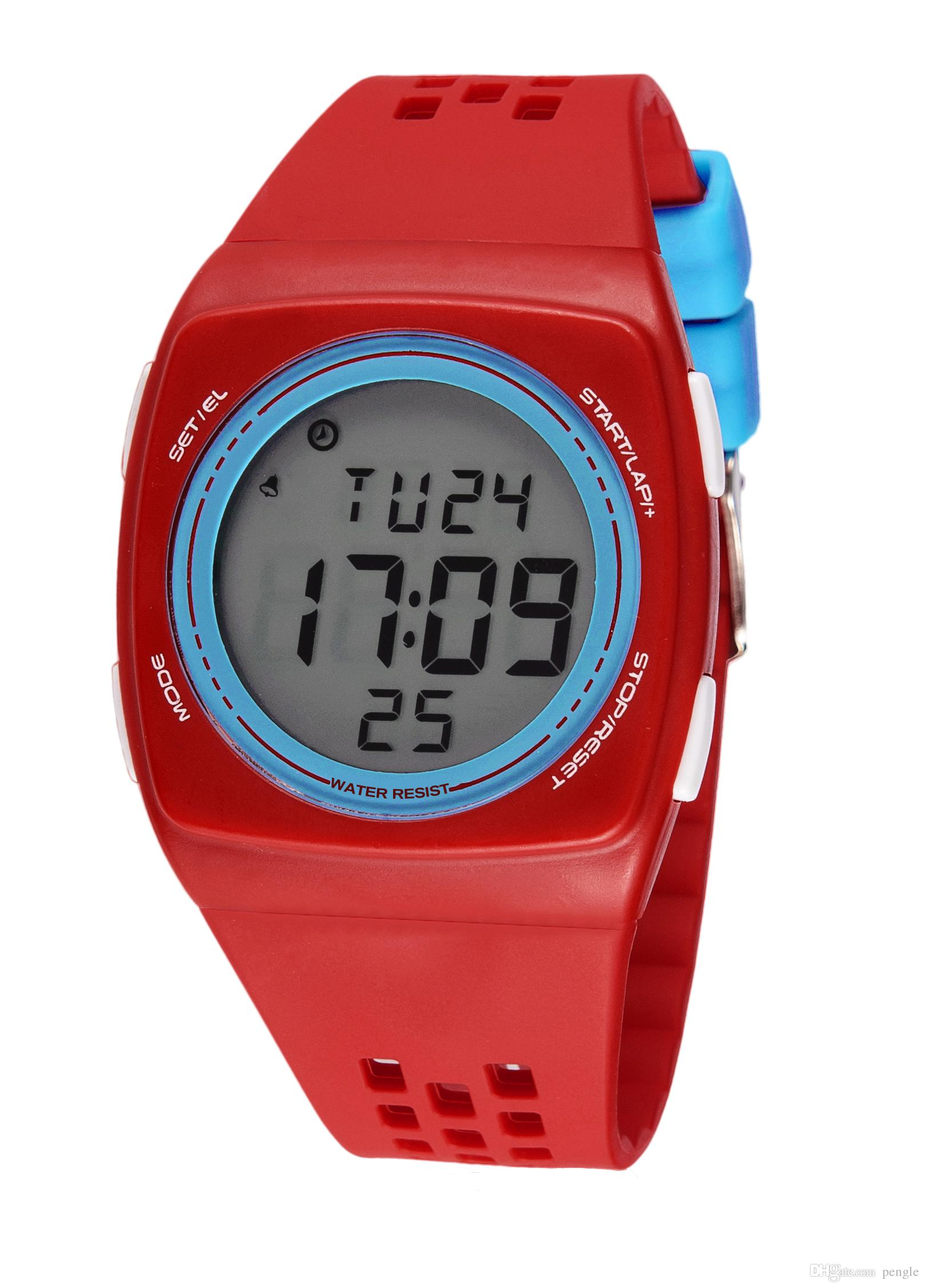 New Fashion Sports Watches Luminous Watches Calendar Date Display Digital Watches PU Strap For Kids Students Men