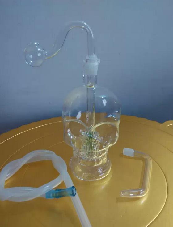 Vetro borosilicato in vetro a forma di teschio